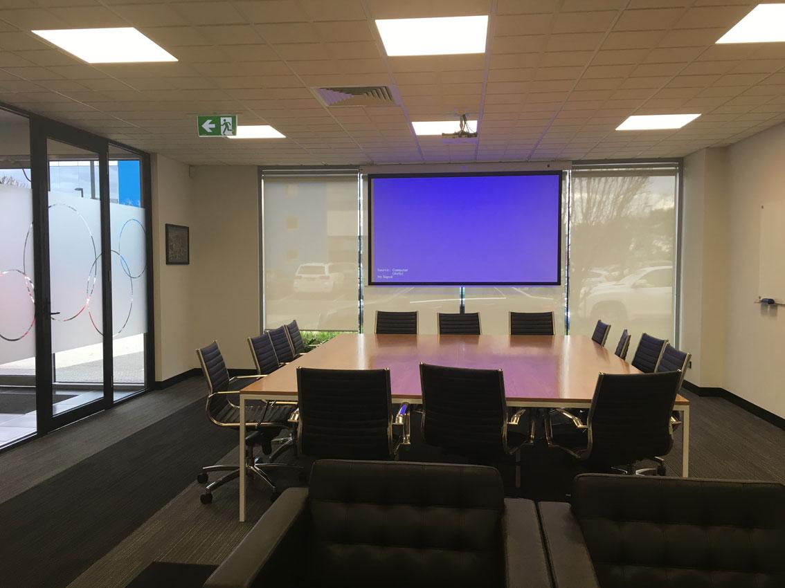 Office Suite LED Panel Amp Emergency Lighting